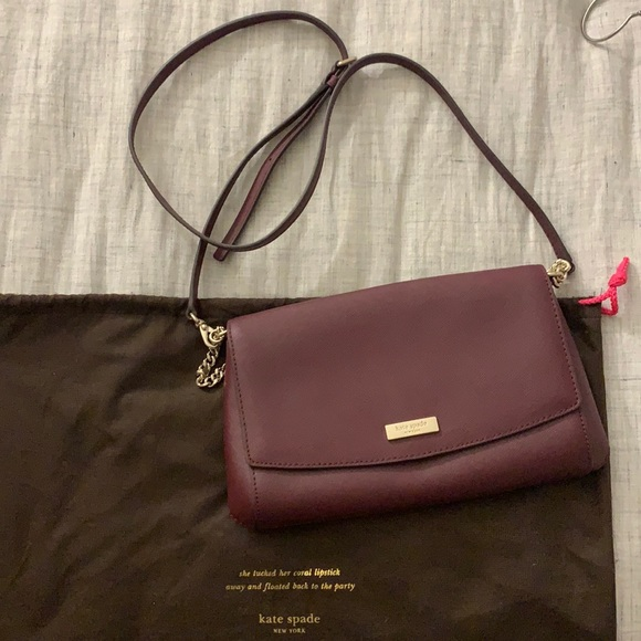 KATE SPADE crossbody burgundy purse
